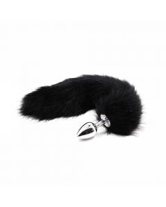 Plug Anal de Cola de Gato Negro